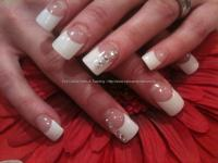 Eye Candy Nails & Training - White tips with Swarovski ...