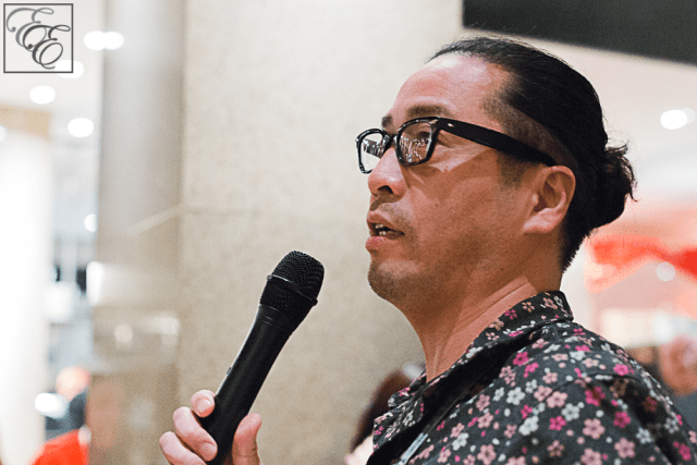 Chef Sho Kamio of Iyasare in Berkeley announces the tasting menu at Ozumo
