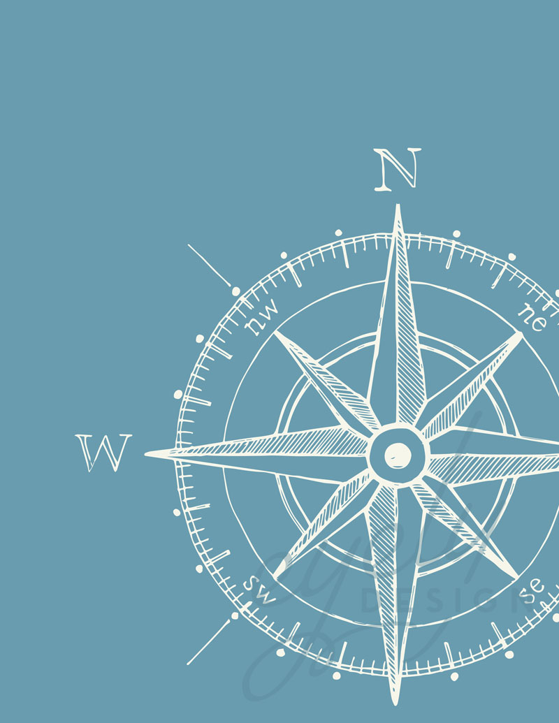 Fit Girls Wallpaper Compass Nursery Room Poster Eyely Design