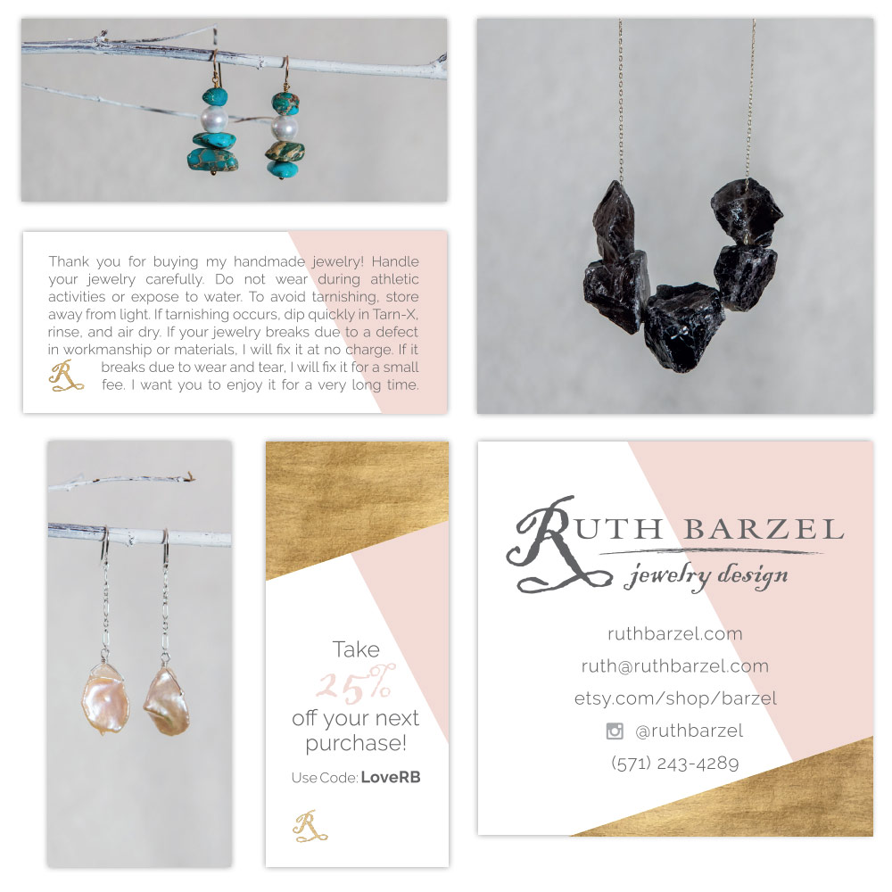 Care Design Eyely Design Ruth Barzel Jewelry Design Business Cards Care