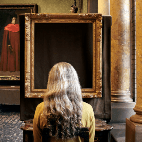 Sophie Calle, What Do You See? (Vermeer, The Concert), 2013 © 2013 Sophie Calle / Artists Rights Society (ARS), New York / ADAGP, Paris. Courtesy of Sophie Calle, Paula Cooper Gallery, New York, and Isabella Stewart Gardner Museum, Boston.