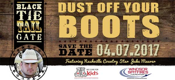 Dust Off Your Boots Black Tie Tail Gate We Care For Kids