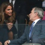 PIC – Is George Bush Flirting at Nelson Mandela's Memorial?