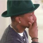 'I'm so happy!': Pharrell Williams cries tears of joy during Oprah