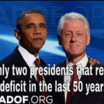 The Only Two Presidents to Reduce the Deficit in The Last 50 Years – PIC