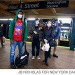 Ebola Fear – New Yonkers Break Out their Breathing Masks – PIC