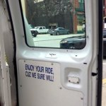 """Message in Baltimore Police Van – """"Enjoy your ride, cuz we sure will!"""" – PIC"""