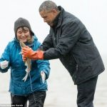 Fish Spawns on Obama's Shoes – Video