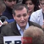 Ted Cruz's Failed Intimidation Tactic on Donald Trump Supporter – Video