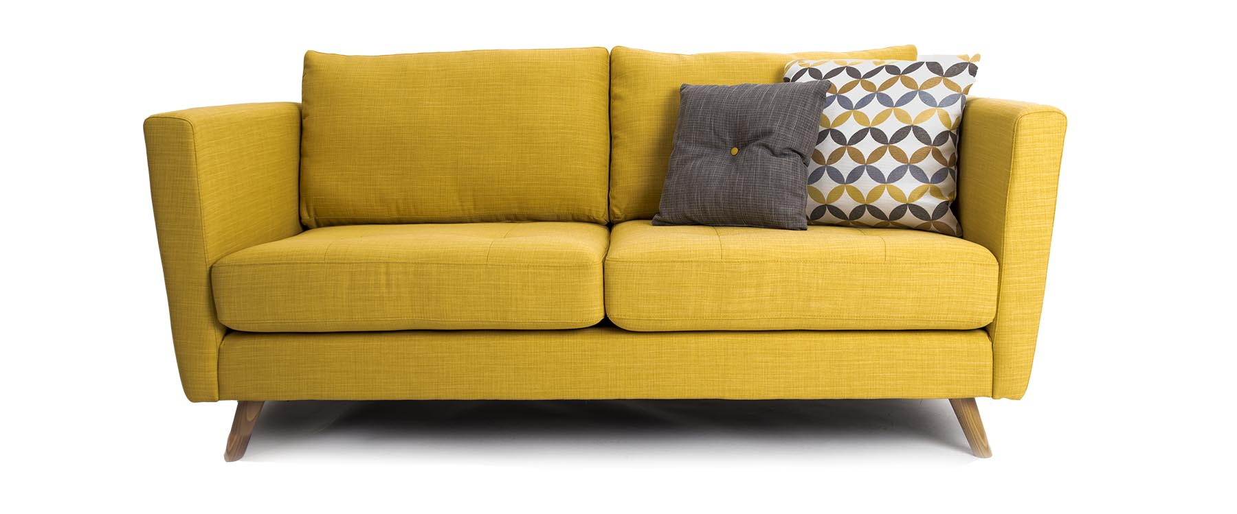 Sofa And Home Voucher Code Clara 3 Seater Sofa In Gold Fabric