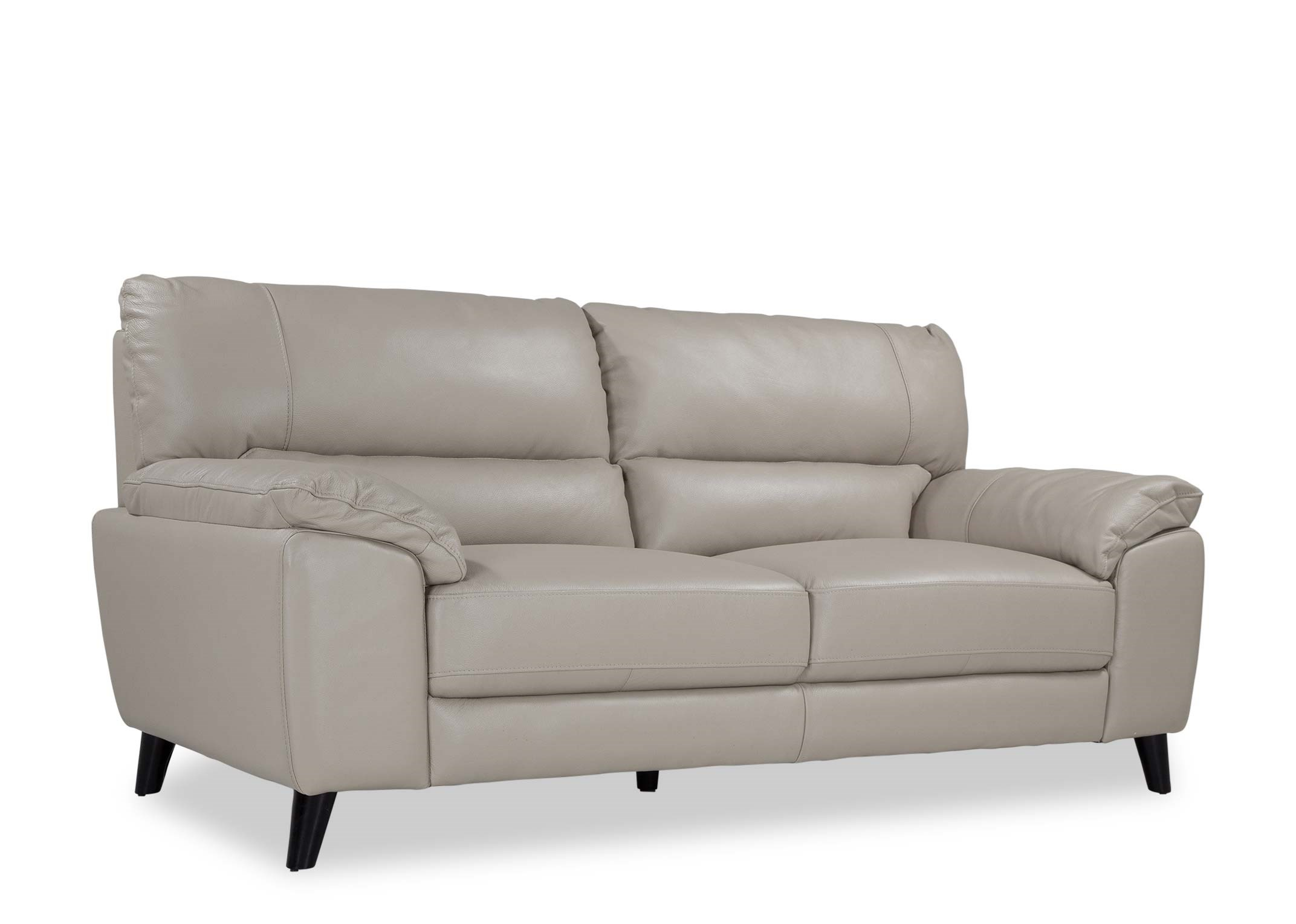 Light Grey Leather 3 Seater Sofa Alfredo Ez Living Furniture