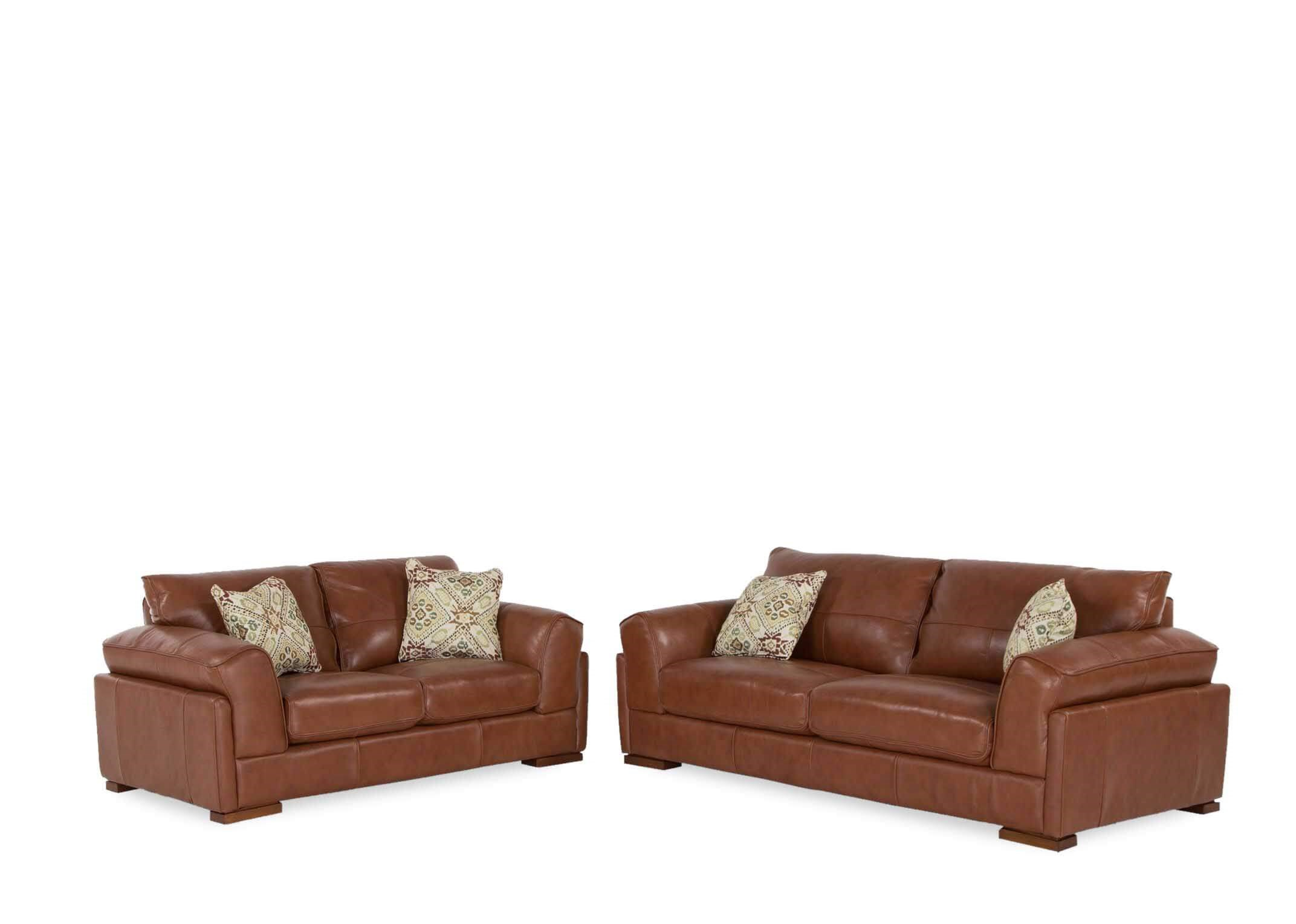 3 Seater Brown Leather Sofa Torino Ez Living Furniture