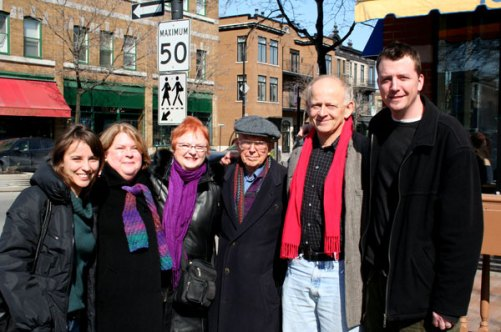 From left to right: Svetla Turnin, Dorothy Todd Hénaut, George Stoney, Tom Waugh, Ezra