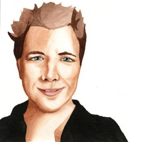 A portrait of me done by Amanda McCuaig - thanks for making me look ten years younger!!