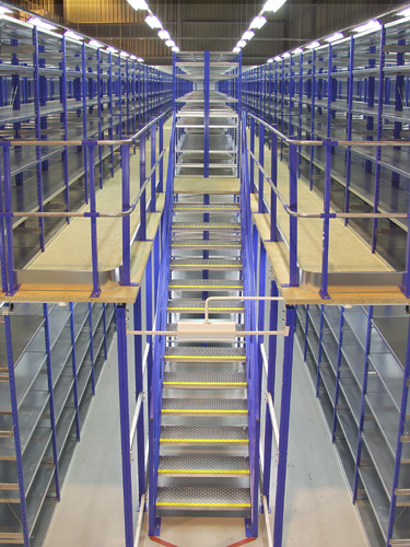 Open Shelving Units Mezzanine Storage Solutions, 2 Tier Shelving & Raised