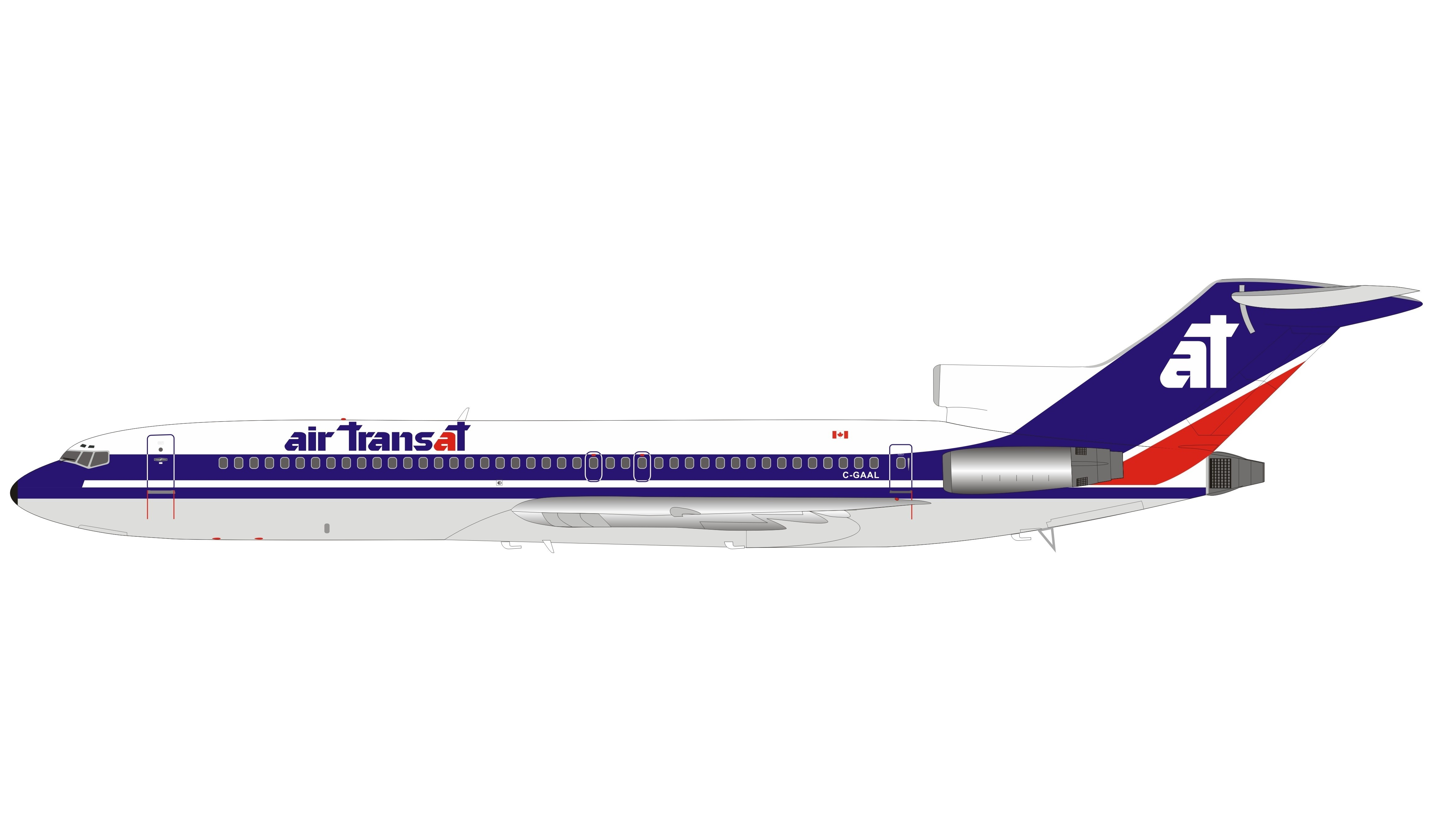 Air Transat Boeing 727 200 C Gaal With Stand Inflight If722at0320 Scale 1 200 Eztoys Diecast Models And Collectibles