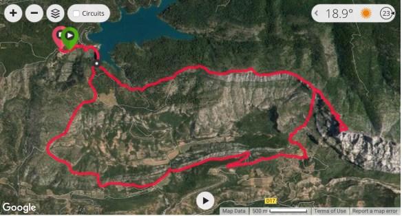 parcours rando Sainte Victoire