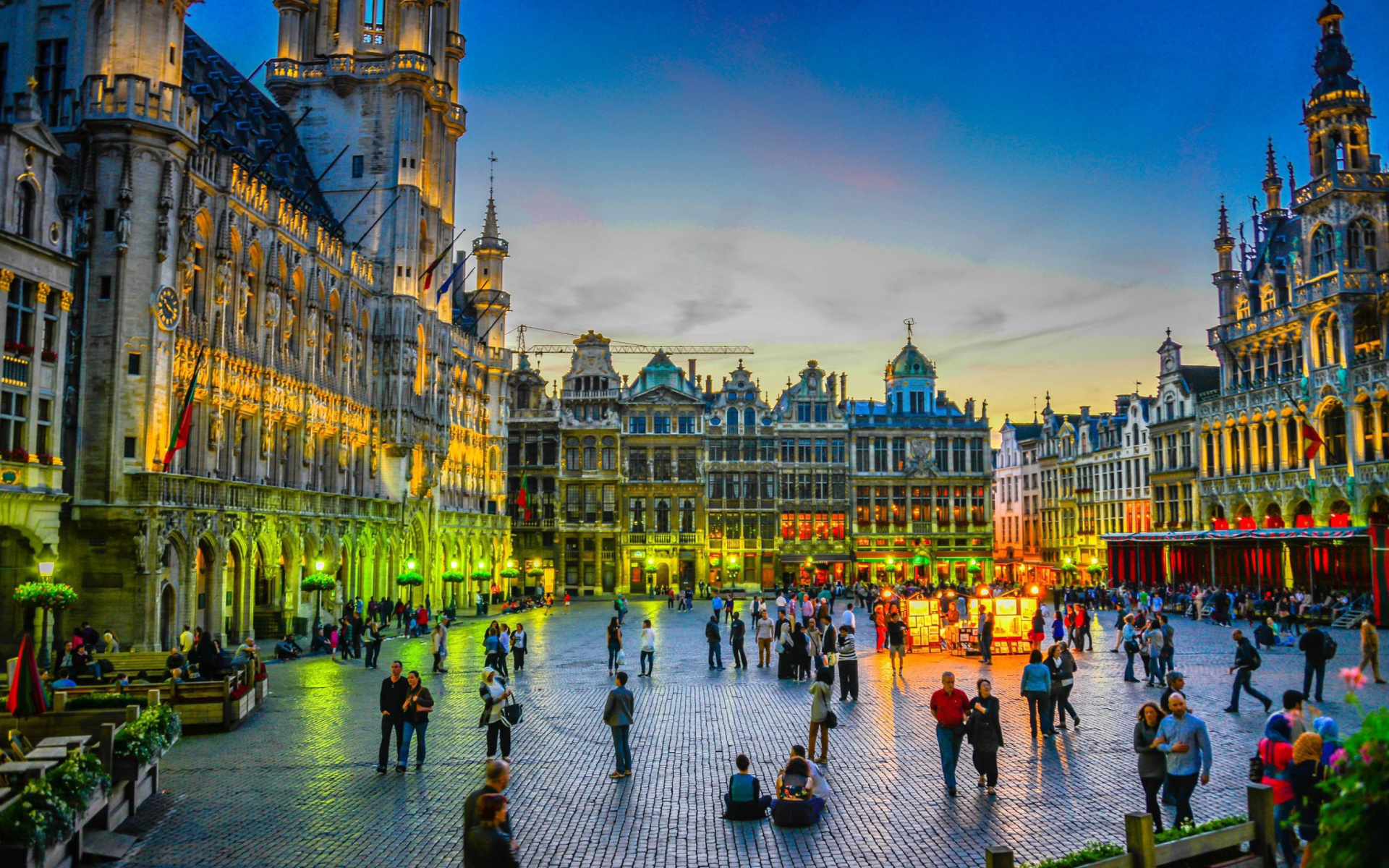 Gta San Andreas Wallpaper Hd Grand Place By Night In Brussels Wallpaper For Widescreen