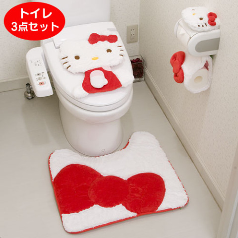 Pretty Up Your Potty With the Hello Kitty Toilet Set - hello kitty potty