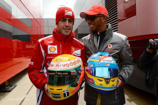 Swapping helmets 2012