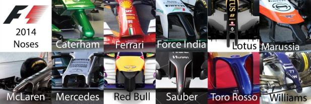 2014 F1 noses