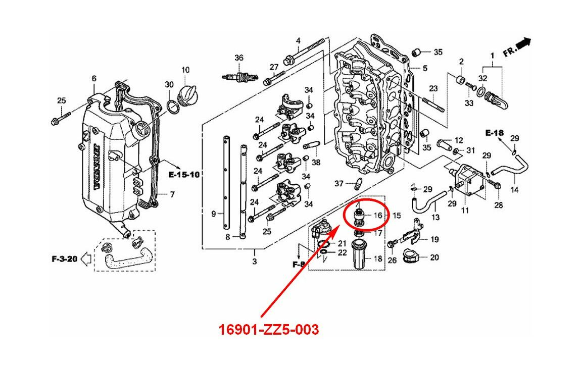 honda bf225 fuel filters