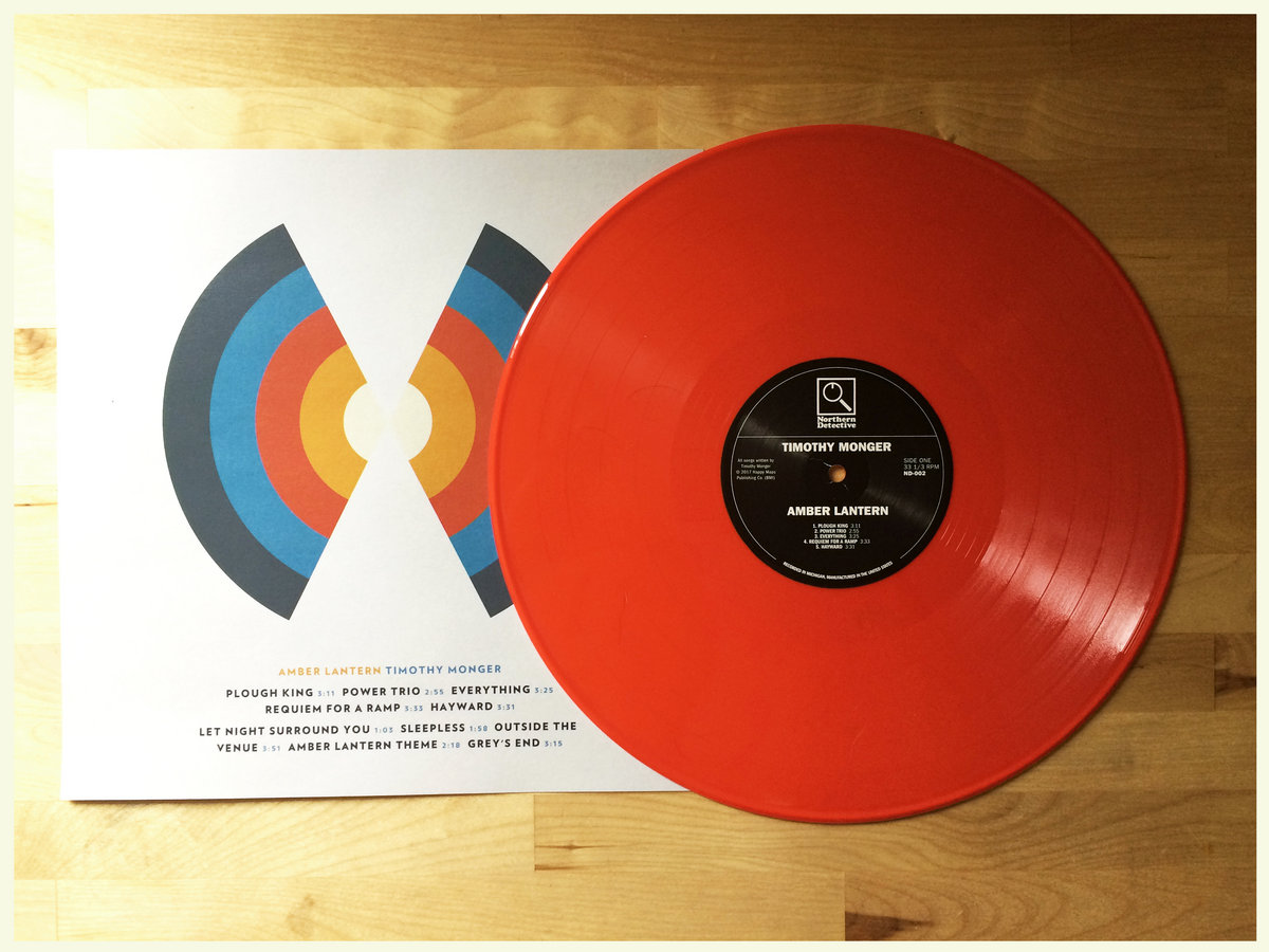 Amber lantern on limted edition 12 opaque orange vinyl w insert featuring lyrics credits sounds great looks great includes unlimited streaming of