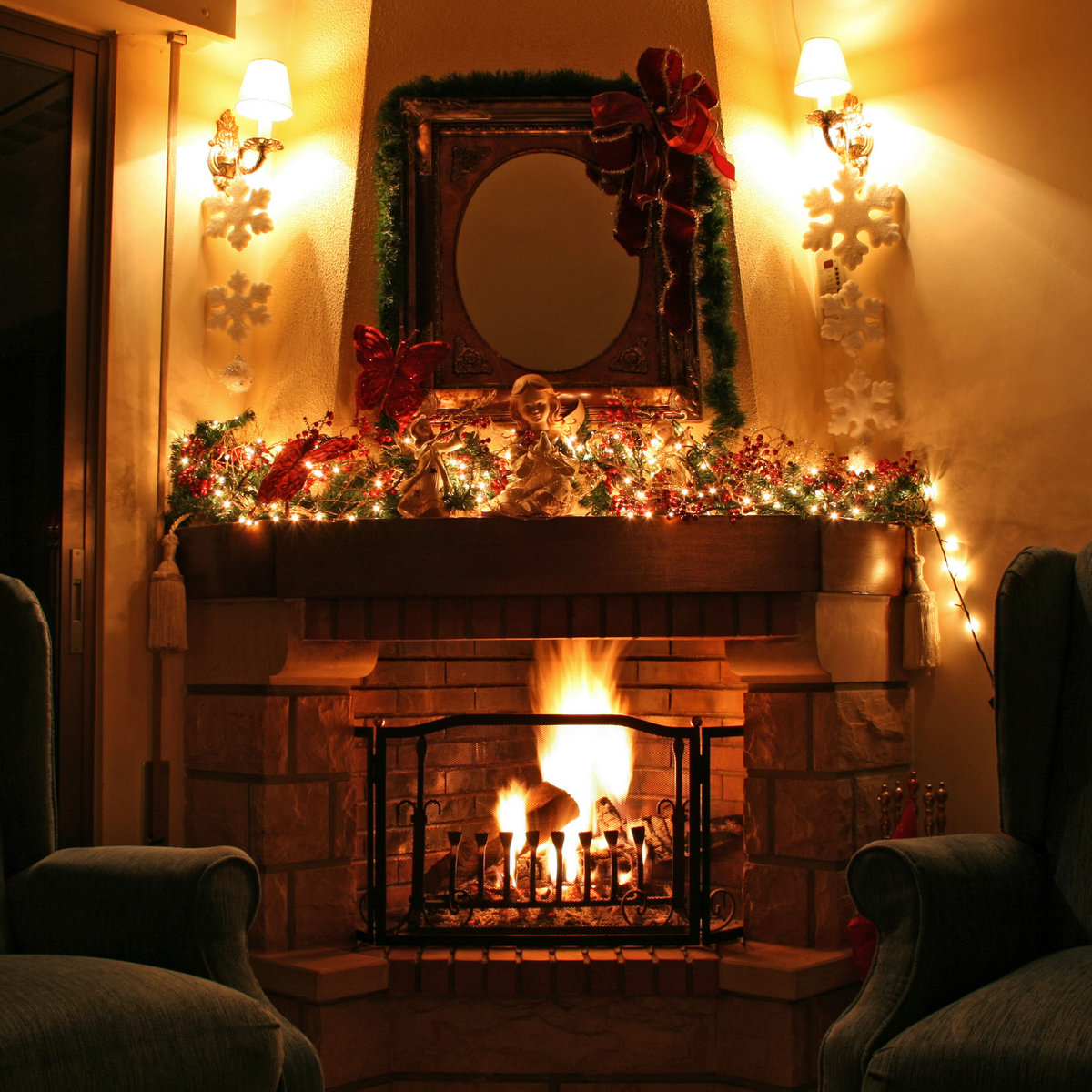 Fireplace Sounds Relaxing Fire Sound 1 Hour Christmas Fireplace With Crackling