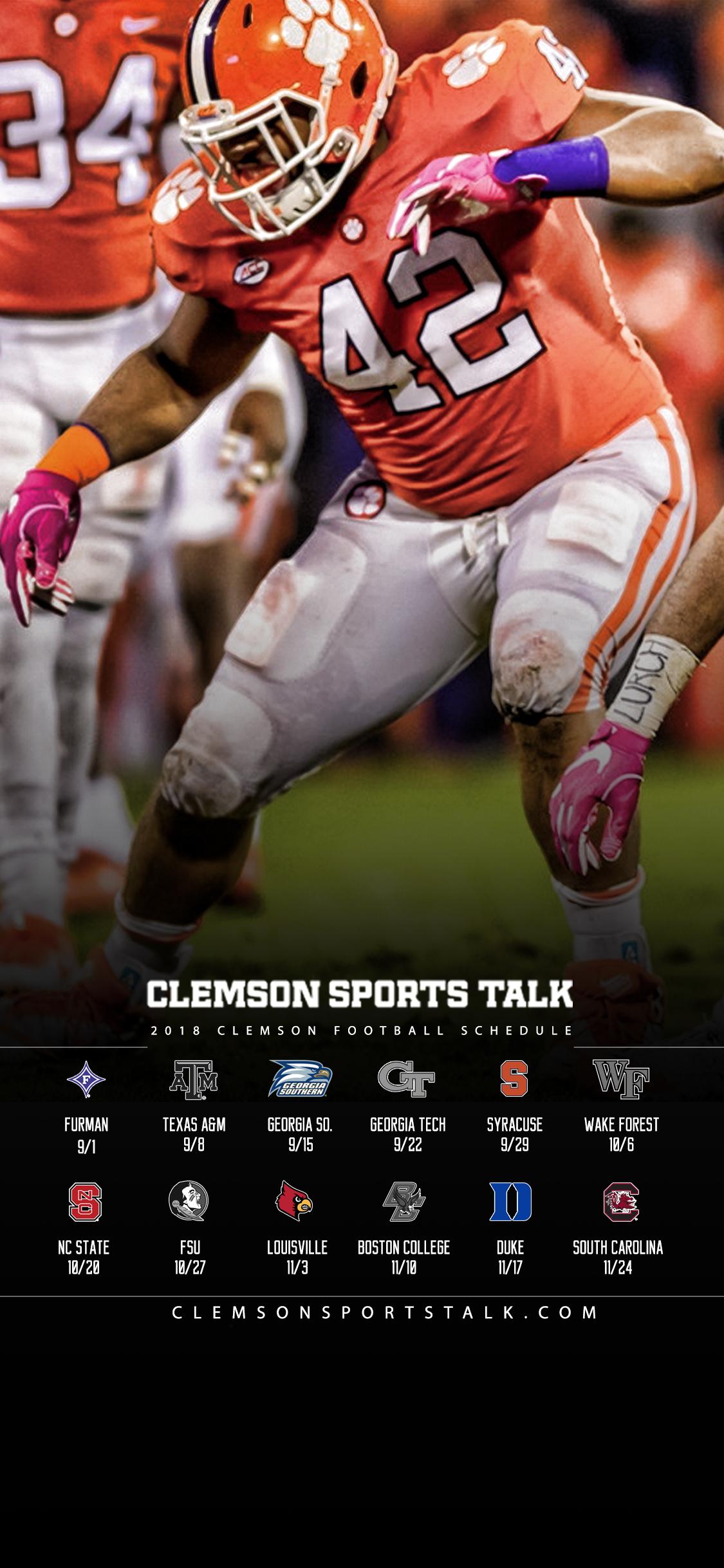 Clemson Tigers Iphone Wallpaper 2018 Clemson Football Wallpapers Clemson Sports Talk