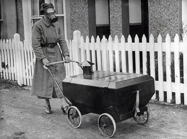Barnevogn med gassbeskyttelse, 1938