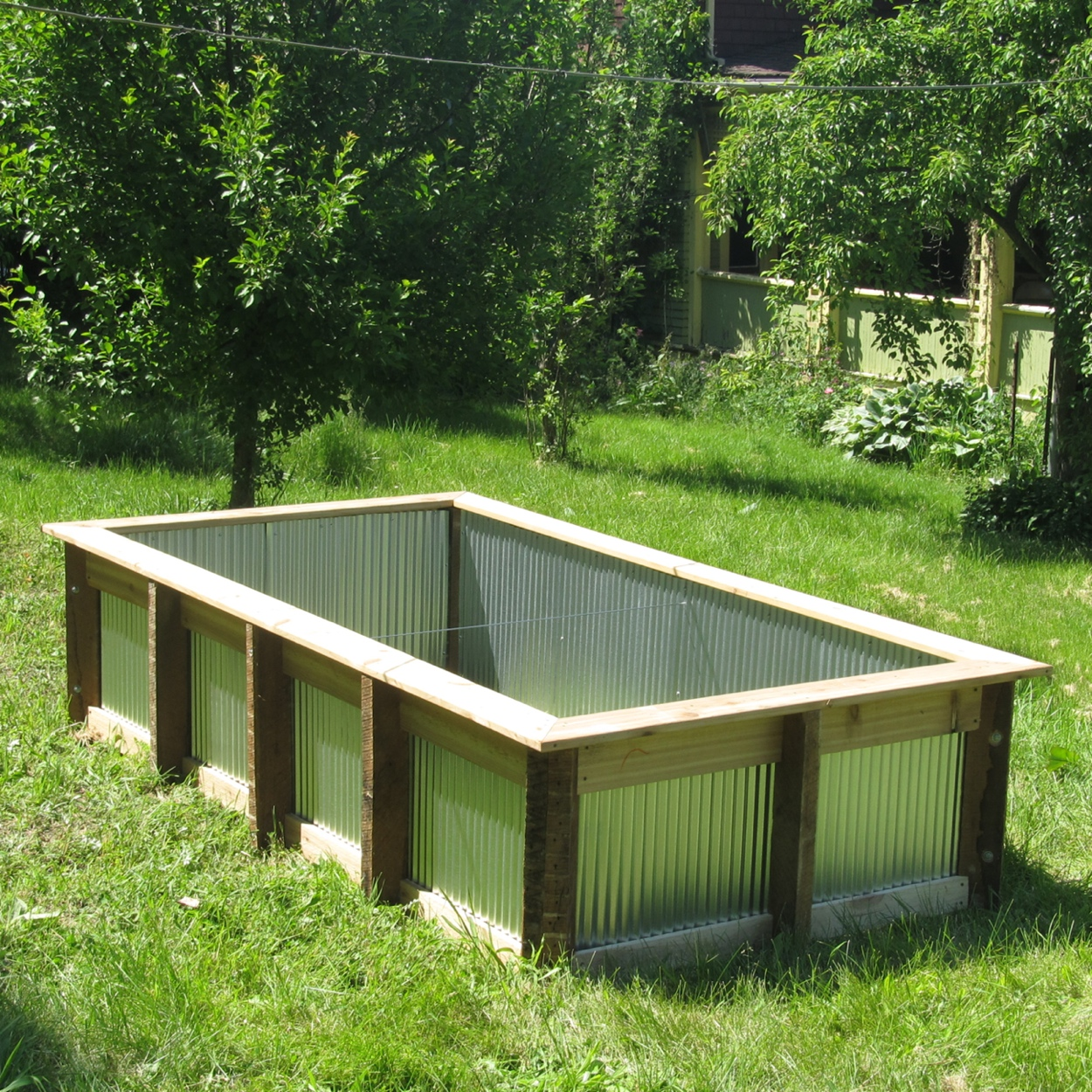 Colorbond Raised Garden Beds Stratco Galvanized Raised Garden Bed Garden Ftempo