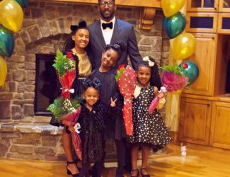 My Husband and his girls for their annual Valentines Day dinner