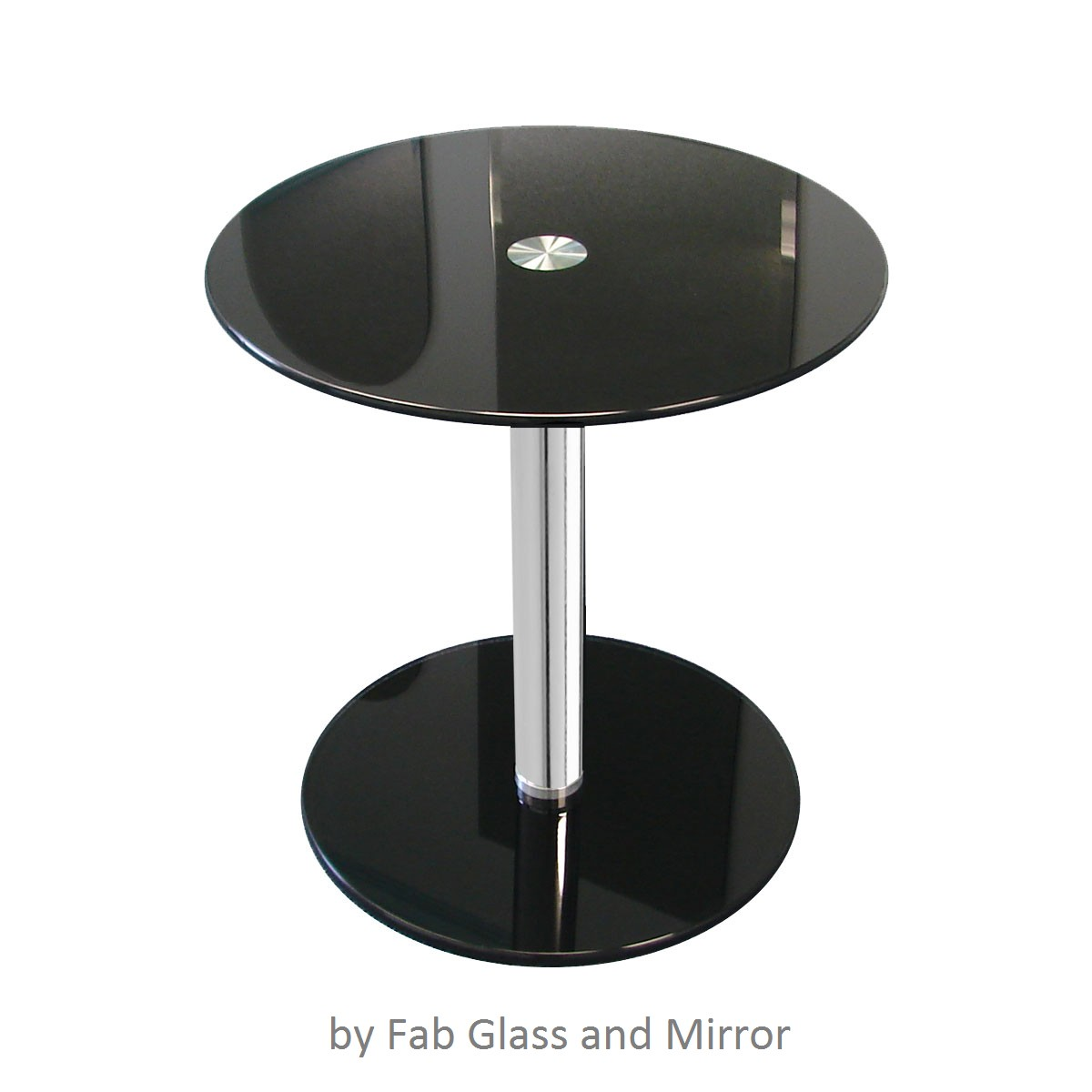 Black Modern Side Table Black Round Modern Glass Side Table Fab Glass And Mirror