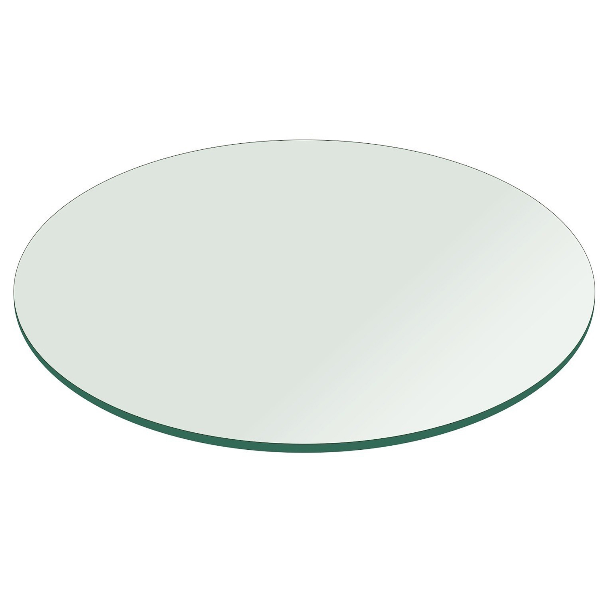 Glass Top Fab Glass And Mirror Round Clear Glass Table Top With Flat