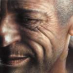 'sembrerebbe un attore francese...' oil on canvas  cm.91x46