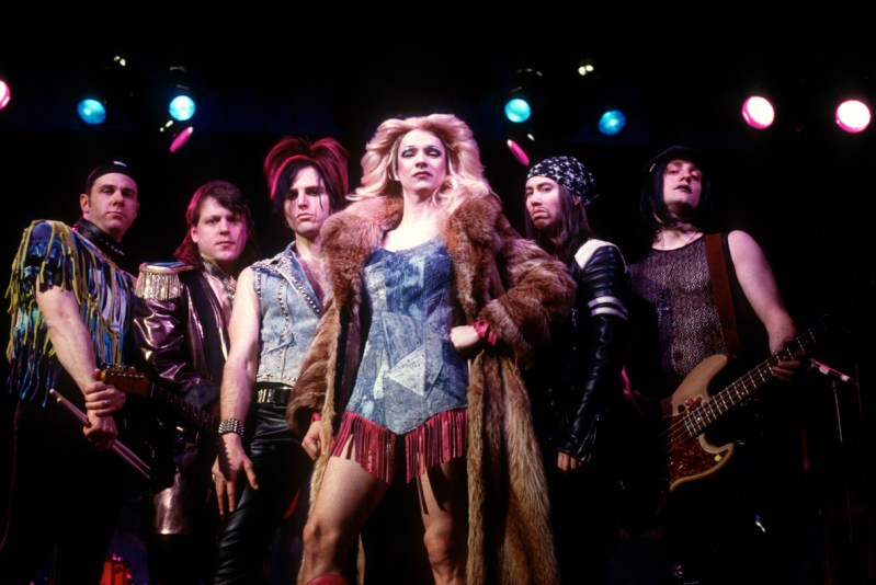 Stephen Trask, John Cameron Mitchell, Miriam Shorr and The Cheaters - Jane Street Theatre - Original Production, NYC 1998 - Photo: Carol Rosegg