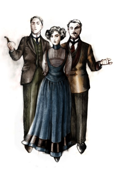 Mr. Higgins, Eliza and Col. Pickering