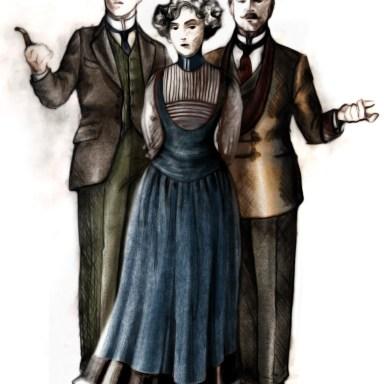 Mr. Higgins, Eliza and Col. Pickering