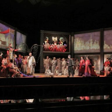 Le Rossignol - Santa Fe Opera - Full Company and Chorus - Photo: Ken Howard