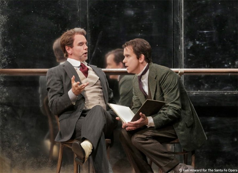 L'Impresario - Santa Fe Opera - Anthony Michaels Moore, Kevin Burdette - Photo: Ken Howard