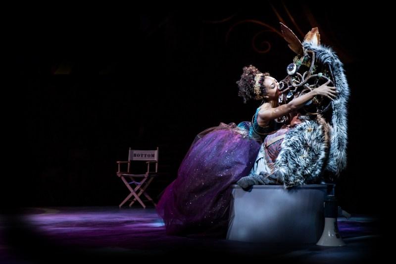 Christina Acosta Robinson and Andrew Weems as Titania and Bottom   -   Photo: Dan Norman