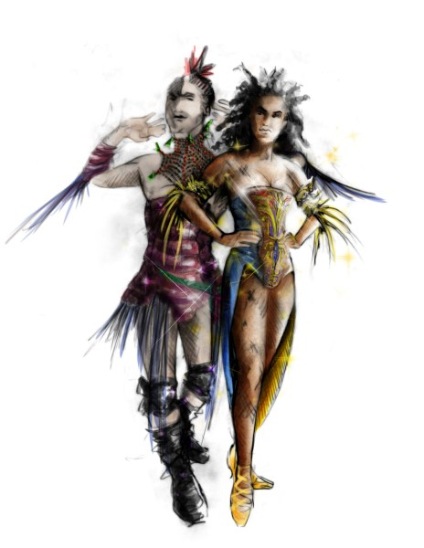 First Fairy and Ensemble Fairy   -   Rendering: Fabio Toblini