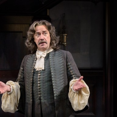 """Lee E. Ernst in the Ensemble Players 2017 production of """"Tartuffe"""" by Molière directed by Maria Aitken. - (Evan Krape / University of Delaware)"""