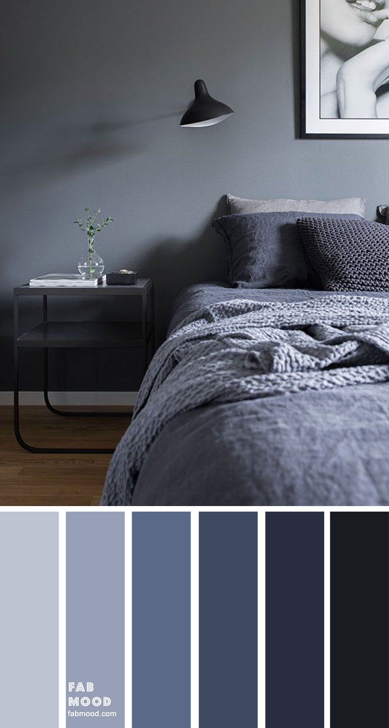 Dark Blue Grey Bedroom Color