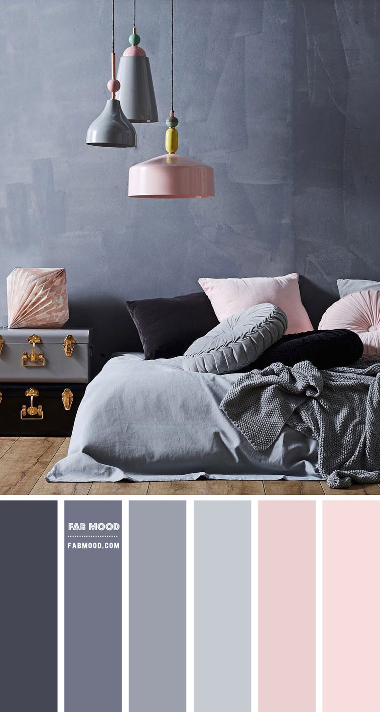 Blush And Grey Bedroom Colour Scheme