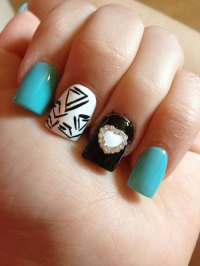 Nails AND Hairstyle: 50 Amazing Acrylic Nail Art Designs