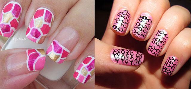 Comfortable Pink Nail Art Designs Ideas 2013 2014 Fabulous Nail