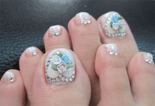 Amazing Christmas Toe Nail Art Designs Ideas For