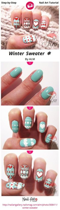 Easy Winter Nail Art Tutorials 2013/ 2014 For Beginners