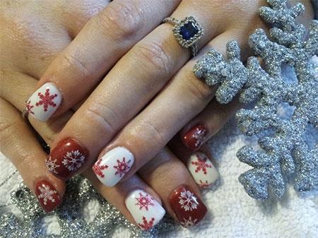 Comfortable Elegant Snowflake Nail Art Designs Ideas 2013 2014